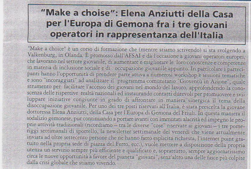 Make a choice v.d.m. agosto 2010