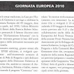giornata europea 2010,voce della montagna,maggio 2010