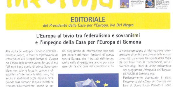 È uscito il nuovo bollettino della Casa per l'Europa!